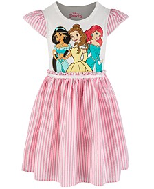 Disney Little Girls Princesses Seersucker Dress,  Created for Macy's