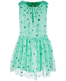 Little Girls Foil-Print Mesh Dress, Created for Macy's