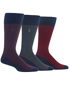 Polo Ralph Lauren Men's 3-Pk. Striped Socks