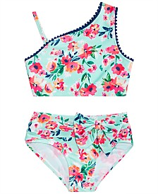 Solo Toddler Girls 2-Pc. Floral-Print Tankini Set