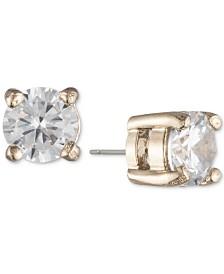 Lauren Ralph Lauren Gold-Tone Crystal Stud Earrings
