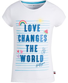 Tommy Hilfiger Big Girls Graphic-Print Cotton T-Shirt