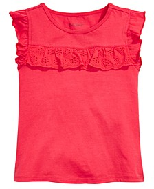 Baby Girls Eyelet Ruffle Top, Created for Macy's