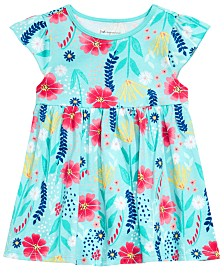 First Impressions Baby Girls Wild Flower-Print Tunic, Created for Macy's