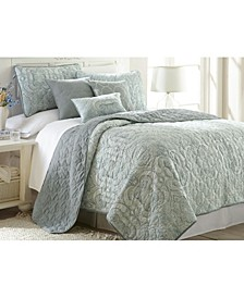 Sanctuary By Pct 6 Piece Printed Reversible Quilt Set Bali Queen