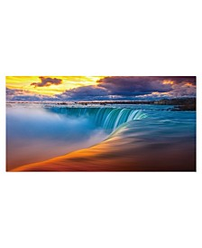 "Chic Home Decor Free Fall 1 Piece Wrapped Canvas Wall Art Waterfall -24"" x 47"""