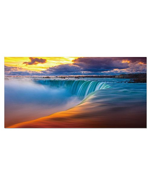 """Chic Home Decor Free Fall 1 Piece Wrapped Canvas Wall Art Waterfall -24"""" x 47"""""""
