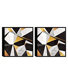Chic Home Decor Geo France 2 Piece Framed Canvas Wall Art Geometric