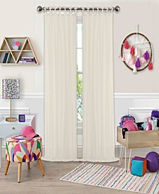 "Greta 50"" x 84"" Crushed Sheer Curtain Panel"