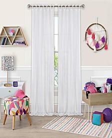 "Greta 50"" x 95"" Crushed Sheer Curtain Panel"