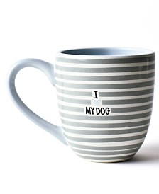 Coton Colors Stone I Love My Dog Mug