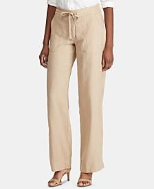 Lauren Ralph Lauren Wide-Leg Linen Pants