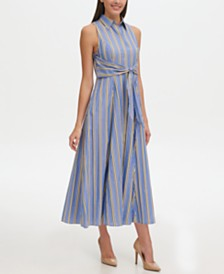 Tommy Hilfiger Petite Cotton Maxi Shirt Dress
