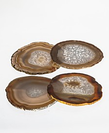 Brasil Home Decor Natural Agate Coasters - Set of Four