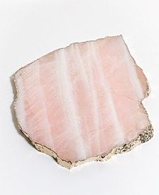 Decor Large Rose Quartz Serving Platter