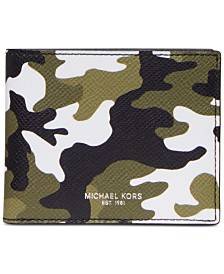 Michael Kors Men's Kent Camo Slim Billfold Wallet