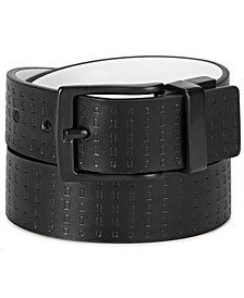 Big Boys Reversible Casual Belt with Embossed Strap