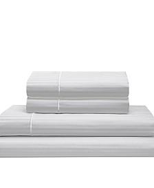 Silky Soft Long Staple Cotton Stripe Queen Sheet Set
