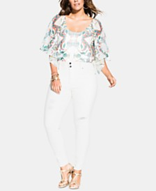 City Chic Trendy Plus Size Harley Ripped Jeans