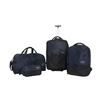 Kenneth Cole Reaction Chromma 4-Piece Luggage Set (Navy / Light Grey)