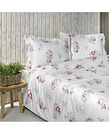 """Vintage Rose"" Sheet Set, Queen"
