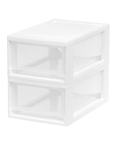 IRIS USA Iris Small 2 Pack Stacking Drawer