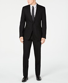 Calvin Klein Men's Slim-Fit Black Solid Suit