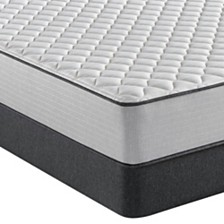 "Beautyrest BR800 11.25"" Firm Mattress Set - Queen"