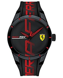 Men's RedRev Black Silicone Strap Watch 44mm