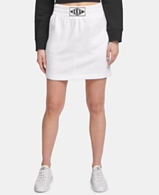 DKNY Sport Logo-Patch Skirt