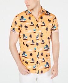 Club Room Men's Sunset-Print Shirt, Created for Macy's