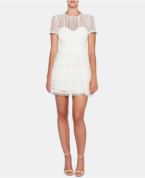 Bardot Lace Tiered A-Line Dress