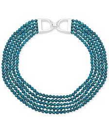 """Lauren Ralph Lauren Beaded Multi-Row 17"""" Collar Necklace"""