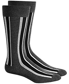 Men's Vertical Stripe Socks, Created for Macy's