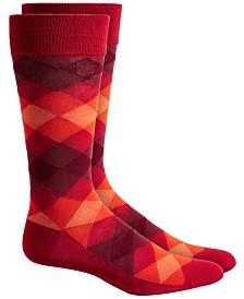 Alfani Men's Ombré Diamond Socks, Created for Macy's