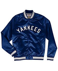 Mitchell & Ness Men's New York Yankees Lightweight Satin Jacket