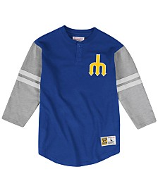 Mitchell & Ness Men's Seattle Mariners Heyday Henley T-Shirt