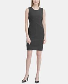 Calvin Klein Textured Seamed Dress