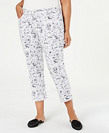 Plus Size Printed Bristol Capri Jeans, Created for Macy's