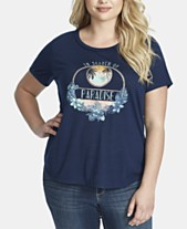 43fa46b4 Jessica Simpson Trendy Plus Size Luna Graphic T-Shirt