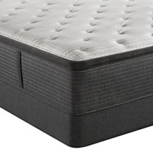 "Beautyrest Silver BRS900-C-TSS 16.5"" Medium Firm Pillow Top Mattress Set - Queen Split, Created For Macy's"