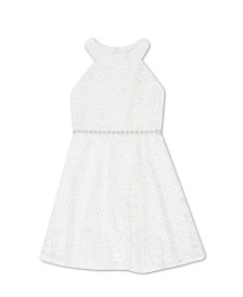 Speechless Toddler Girls Glitter Lace Dress
