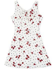 Big Girls Cherry-Print Skater Dress
