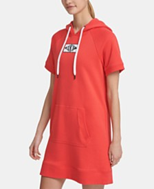 DKNY Sport Patch Logo Hoodie Dress, Created for Macy's