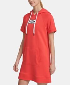 DKNY Sport Patch Logo Hoodie Dress