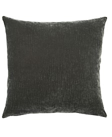 """Jaipur Living Luxe Gray Solid Down Throw Pillow 20"""""""