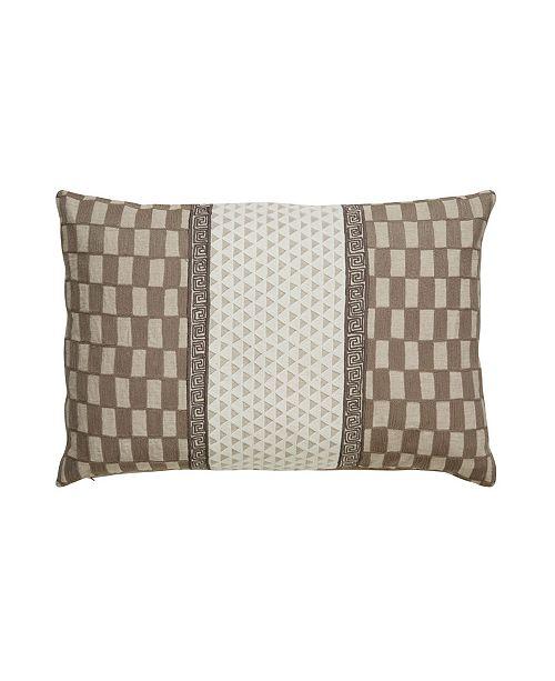 "Jaipur Living Nikki Chu By Zulema Gray/White Geometric Poly Throw Pillow 16"" x 24"""