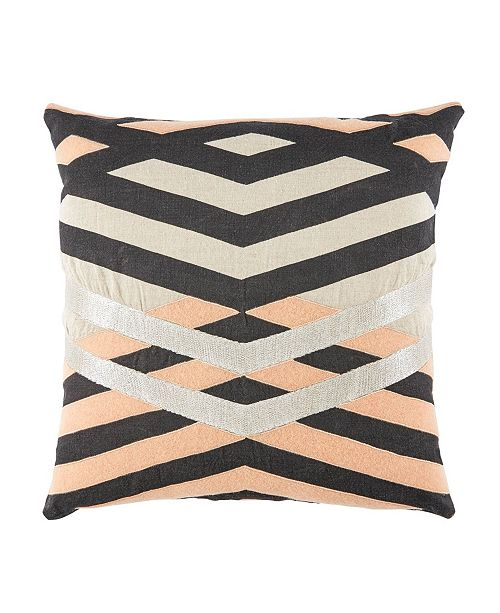 "Jaipur Living Nikki Chu By Averil Cream/Pink Geometric Poly Throw Pillow 22"""