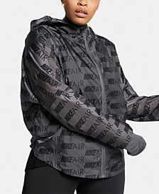 Plus Size Air Hooded Running Jacket