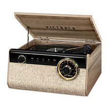 Victrola's 4-in-1 Austin Bluetooth Record Player with 3-Speed Turntable and FM Radio